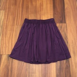 Super stretchy deep plum flowy skirt